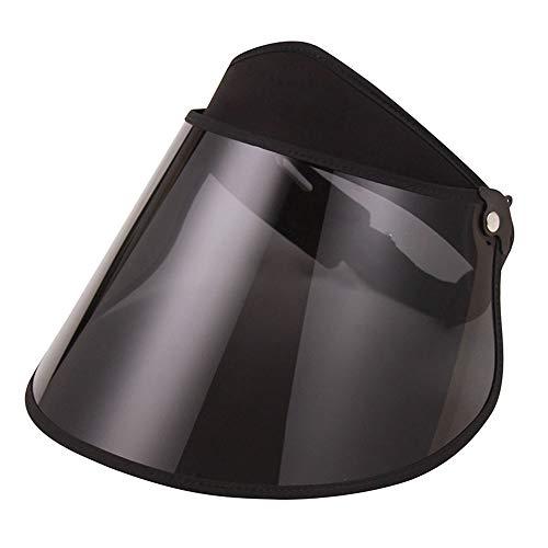 FSBYB Sombrero para el Sol Sombrero para el Sol Femenina mascarilla Ultravioleta Cara Cubierta de Verano polarizado Toda la Cara Grande del Sombrero los Hombres del Sombrero del Sol,Negro