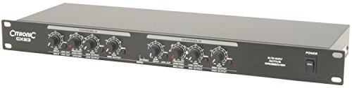 AVL324 – CITRONIC CX23 2/3-Wege-ACTIVE CROSSOVER FREQUENCY SPLITTER, 48,3 cm RACK MONTABLE & BUTTERWORTH FILTER