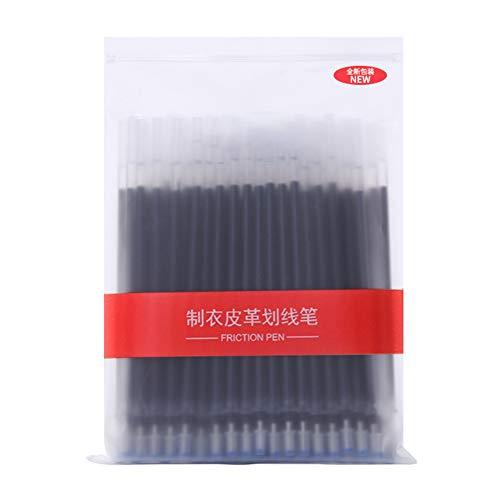 Kalaokei Lot de 100 marqueurs à tissu à haute température, Plastique + encre., Noir