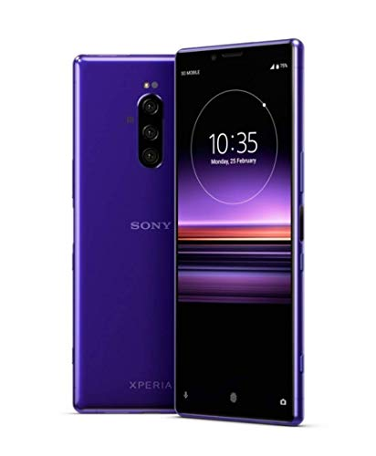 Sony Xperia 1 J9110 Dual-SIM 128GB/6GB Dual Sim - International Model - No Warranty in The USA - GSM ONLY, NO CDMA (Purple) - Purple