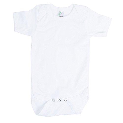 Laughing Giraffe Baby Blank Short Sleeve Onesie Bodysuit White (3-6 Months, White)