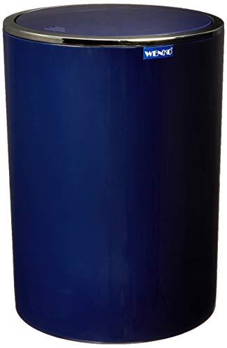 Wenko 22809100 Schwingdeckeleimer Inca Blue, Kosmetikeimer, Mülleimer, Fassungsvermögen: 5 l, Acrylnitril-Butadien-Styrol (ABS), 18.5 x 25.5 x 18.5 cm, dunkelblau