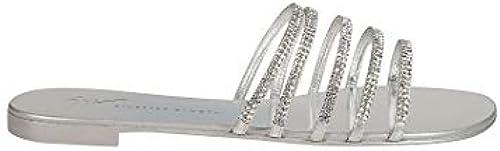 Giuseppe Zanotti Design Damen I700027001 Silber Leder Sandalen