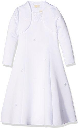 Eisend Mädchen Hanna Kleid, Weiß (Weiß 10), 128
