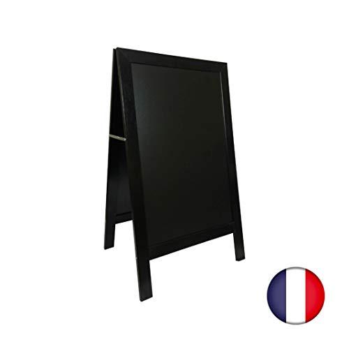 Staffelei Gehwegstopper mit Holzrahmen, Farbe schwarz, Maße: 127 x 75 cm