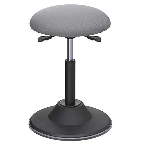 SONGMICS höhenverstellbare Stehhilfe, Sitzhöhe 50-70 cm, Arbeitshocker, um 360°drehbarer Barhocker, Bürohocker, mit Anti-Rutsch-Bodenring, OSC01GY