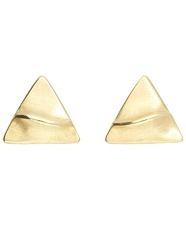 MyGold Dreieck Ohrringe Ohrstecker Ohrschmuck Gelbgold 750 Gold (18 Karat) 6mm x 7mm Damenohrringe Struktur Goldstecker Goldohrstecker Goldohrringe Triangel O-07813-G503