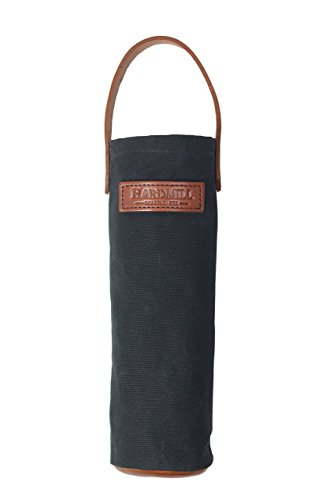 Wine Tote - Waxed Canvas - Black - Made in USA