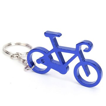 Llavero de botella de vino y cerveza para bicicleta (azul)