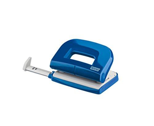 Novus E 210 Locher (10 Blatt Lochleistung, mit Anschlagschiene, für Haushalt und Heimbüro) blau glänzend