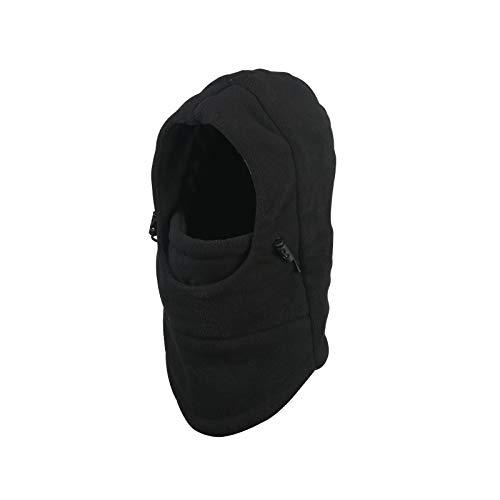 ZoomSky Sombrero de Invierno Gorro para niños y niñas Proteger Cuello de Gorro Ajustable para Salir o Viaje, al Aire Libre en Invierno y otoño (Negro)