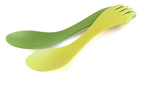 Light my Fire Spork Extra Medium - à 2 pièces Paquet - Grand Couverts - citron vert/vert, Taille unique