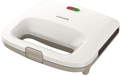 Philips 8710103668855 Appareil à croque-monsieur HD2392/00 Sandwichmaker, polycarbonate, Beige, Weiß