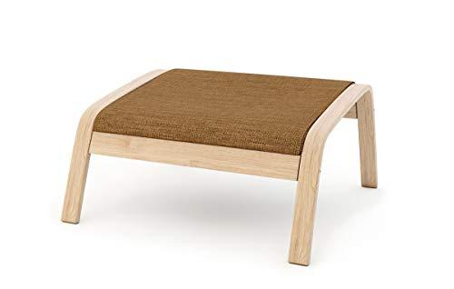 Masters of Covers - Funda de repuesto para sillón de Ikea «Poäng», Poliéster - Caqui, Footstool Design 1