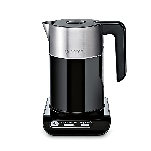 Bosch Styline TWK8633GB Variable Temperature Cordless Kettle, 1.5 Litres, 3000W - Black
