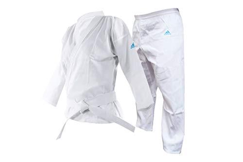 adidas Adistart Karate Uniform 7oz Martial Arts Student Gi Karateanzug für Kampfsport, 200 g, weiß, 180 cm
