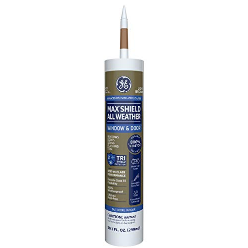 GE Sealants & Adhesives-2709203 Window & Door Max Shield All Weather - Light Brown, 10.1 Ounce