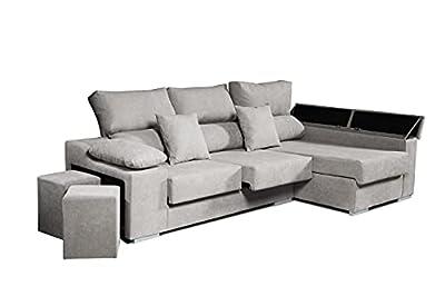✅ CHAISELONGUE DERECHA. El sofá chaiselongue Rubí de 3 plazas. Con asientos extraíbles y respaldos reclinables y Arcón de almacenaje en el brazo. La manera correcta de identificar lo que se necesita comprar es mirando de frente al sofá. Respaldos rec...
