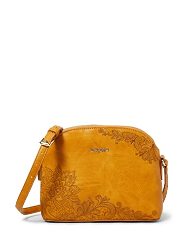 Desigual Womens Accessories PU Across Body Bag, Yellow, U