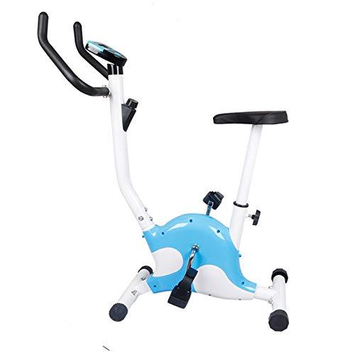 Inicio Control magnético silencioso Plegable Ejercicio Bicicleta Equipo de Fitness Gimnasio Interior Spinning Bicycle Pedal Deportes Bike (Color : Blue)