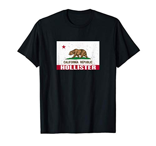 Hollister, Californie - Drapeau de la République de CA T-Shi