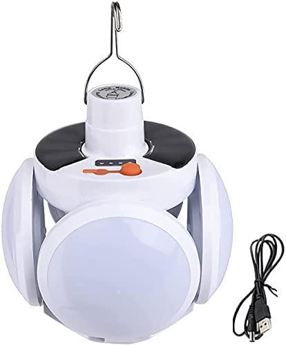 フットボールライト、ポータブルシーリングライトナイトライト、フットボールLEDソーラーシーリングライト、家庭用およびガレージUFOライト、40W高輝度折りたたみ式、充電式、中庭の照明、ポリシリコンソーラーパネルは