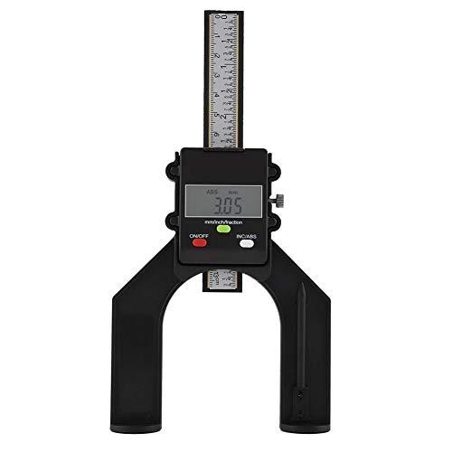 Digital Tiefenmesser Messgerät LCD Magnetisch Selbststehend Höhenmessgerät für Holzbearbeitung und Maschinenbau
