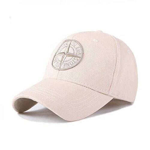 Baseballmützen Hip Hop Hüte Angeln Golf Sonnenschutz Laufen im Freien Trucker Sports New Stone Island Logo Baseball-Mütze Kappe mit Verstellbarer Kappe Unisex-Golfmütze UK @ Beige