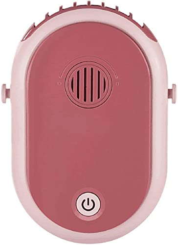QAZW El Nuevo Abanico De Spray De Aromaterapia con Cuello Colgante, Ventilador Tres en Uno con Energía Eólica Recargable y Humidificación Silenciosa,Pink