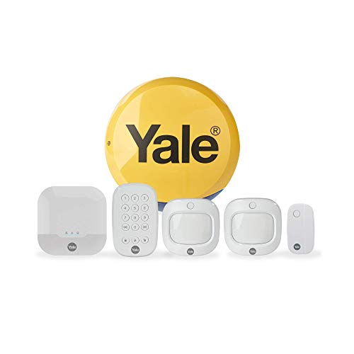 Yale IA-320 Sync Smart Home Alarm, works with Alexa, Google & Philips Hue. 6-piece kit, Self-Monitored, Geofencing, 200m range, integrates with Yale Smart Locks
