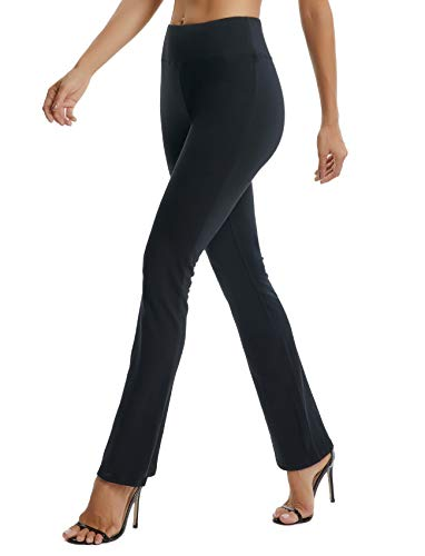 SEASUM Women's Boot-Cut Yoga Pants Bootleg Casual Workout Pants Stretch Comfy Soft High Waist Tummy Control M