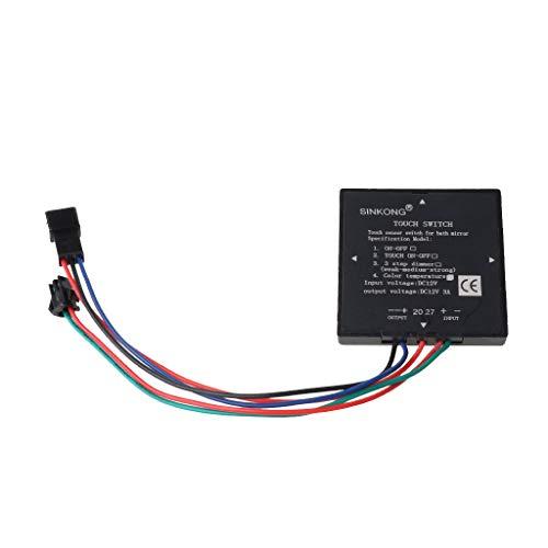 YUZI 5-12V Interruptor de espejo de baño Sensor de interruptor táctil para faro de espejo de luz LED