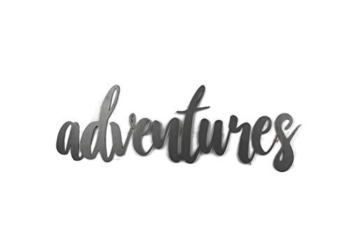 Raw Steel Unpainted Word Art - adventures (Small)
