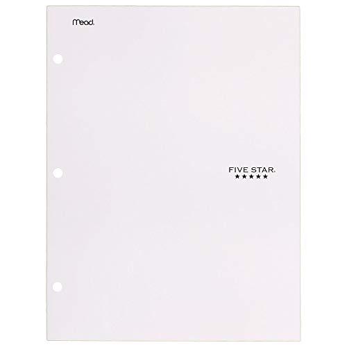 Five Star 4 Pocket Folder, 2 Pocket Folder Plus 2 Additional Pockets, White (72893)