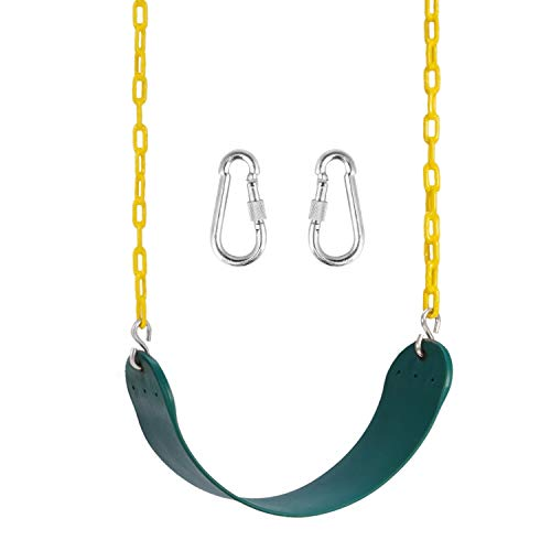 Heavy Duty Swing Seat Pack of 1- Includes 2 Carabiners