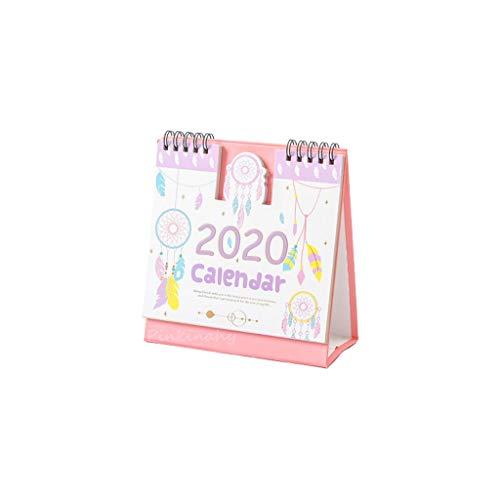 2020 schattige minikalender voor op het bureau, agenda 2.011,09-2020,12 Oro rosa + oro rosa