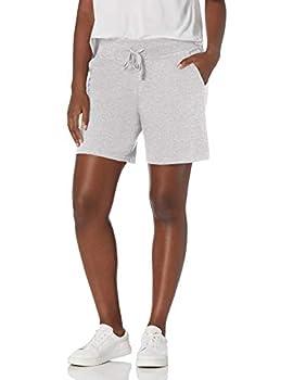 Hanes Women s Jersey Short Light Steel Large