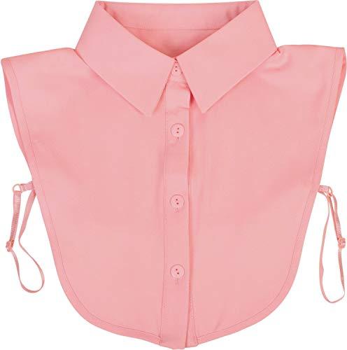 styleBREAKER Damen Blusenkragen Einsatz mit Knopfleiste Unifarben, Kragen für Blusen und Pullover 08020004, Farbe:Rose