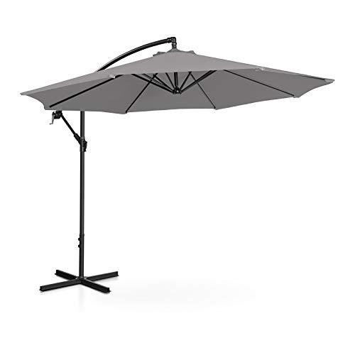 Uniprodo Hanging Parasol Cantilever Umbrella Tiltable Round Garden Umbrella...