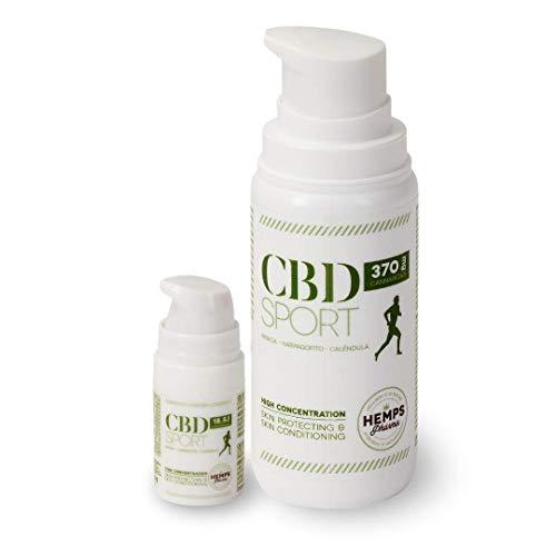 Hemps Pharma - PACK CBD SPORT | Opwarmzalf voor de Bereiding en het Herstel van Spier- en Gewrichtspijn | CBD | Arnica | Duivelsklauw | Goudsbloem - Grote Verpakking (100 ml) en Zakformaat (5 ml)