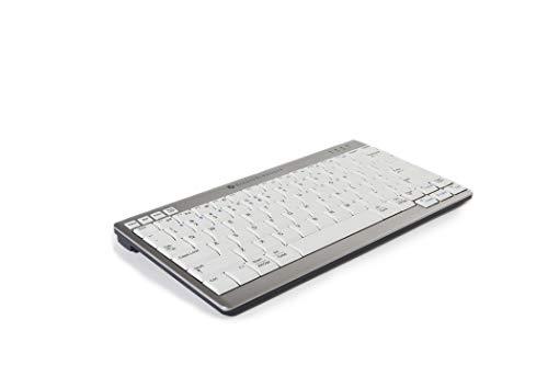 Bakker Elkhuizen BNEU950WUK toetsenbord UK QWERTY Ultraboard 950 wit-zilver, draadloos