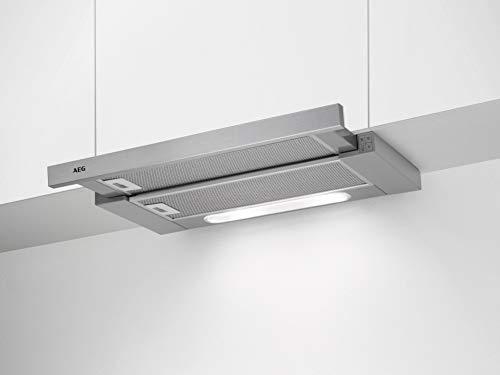 AEG DPB3632M Flachschirm-Dunstabzugshaube / Abluft oder Umluft / 60cm / Grey / max. 308 m³/h / min. 59 – max. 65 dB(A) / C / Kurzhubtasten / Grey