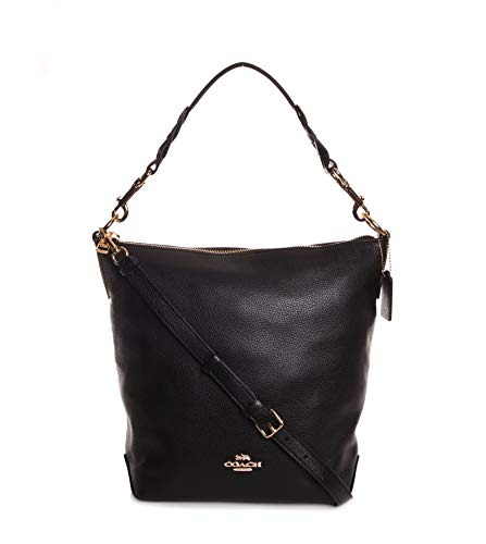 Coach Women's Leather Abby Duffle Shoulder Bag No Size (Im/Black)