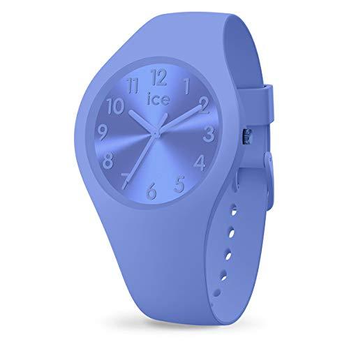 Ice-Watch - ICE colour Lotus - Blaue Damenuhr mit Silikonarmband - 017913 (Small)