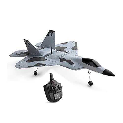 Avión de Control Remoto 2.4GHz 3 Canales 3D/6G Conmutable EPP Foam RC Plane, Easy & Ready to Fly, para Niños y Principiantes, Gris