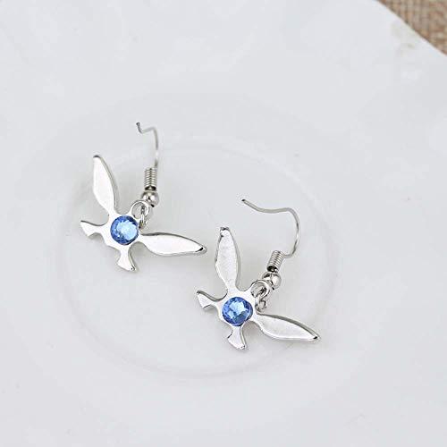 The Legend of Zelda Earrings Zelda Ear Clip cosplay Party supply Eardrop dangler for gifts (Silver)