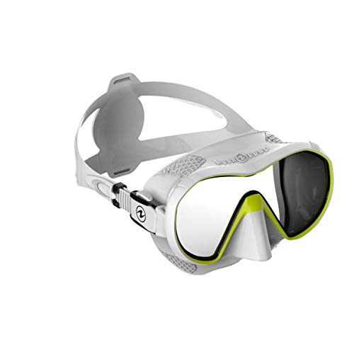 Aqualung Plazma duikmasker, wit/geel