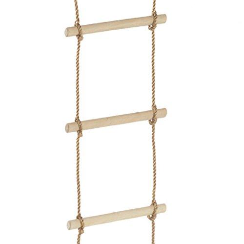 WICKEY Strickleiter leicht, 4 Sprossen, Seilleiter, Länge 145cm