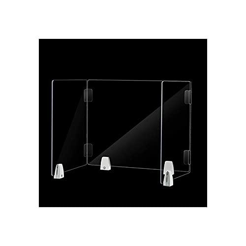 Niesschutzschild Verdicken Desktop Niesbarriere Ständer Acryl Plexiglas Schreibtisch Trennwand für Bürokantinentheke,35 * 35 * 55 * 40cm