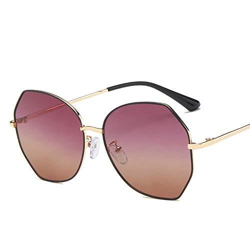 ShawnBlue Nuevas Gafas de Sol, Rojo, Netos de Moda de Moda Gafas de polígonos, ins polarizadas Gafas de Sol Femeninas Delgadas (Color : Black Gradient Red-Polarized)